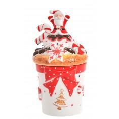 Μπισκοτιέρα Κεραμική Santa Claus