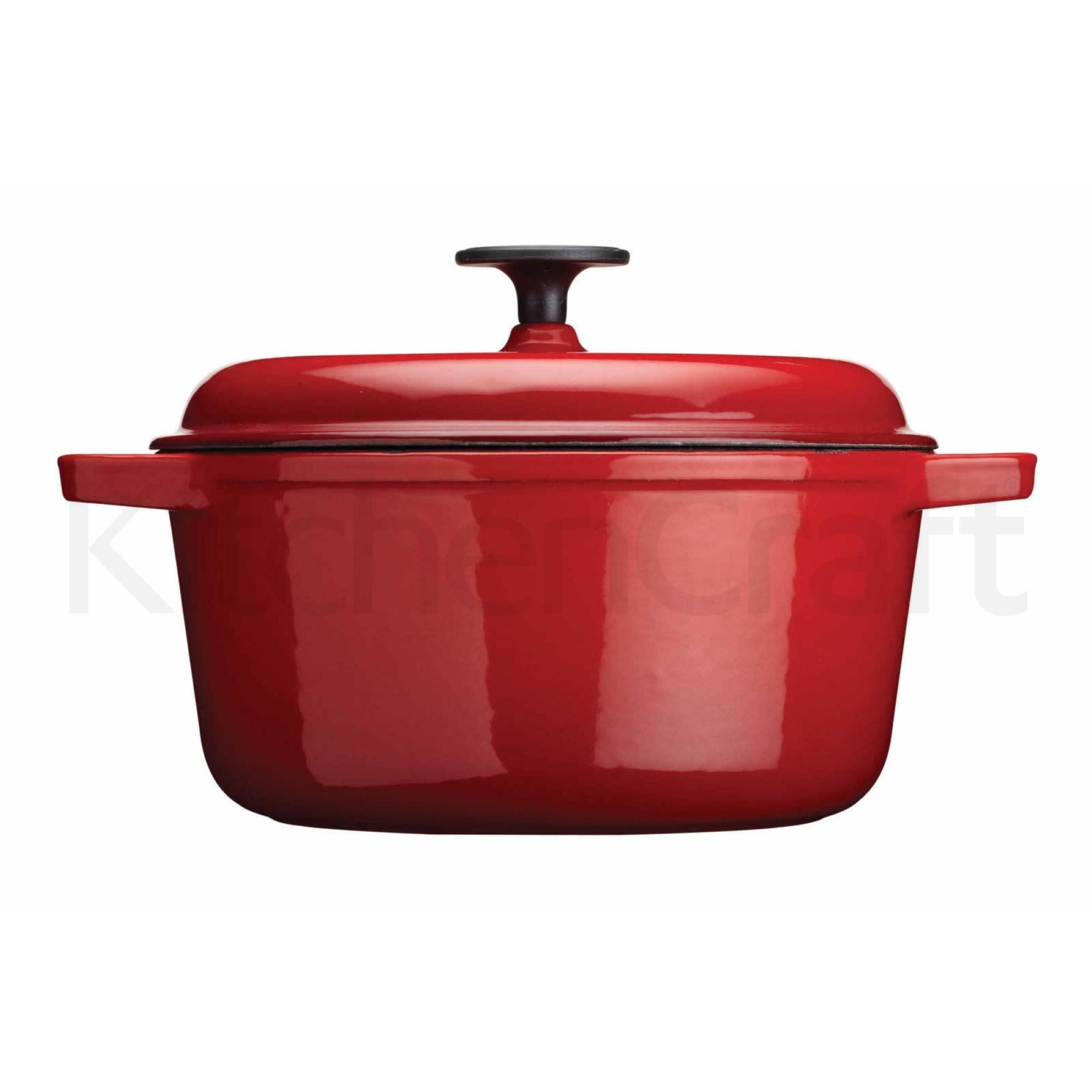 """Χύτρα Από Μαντέμι """"Cast Iron"""" 28cm Κόκκινη Masterclass home   σκευη μαγειρικης   κατσαρόλες χύτρες"""
