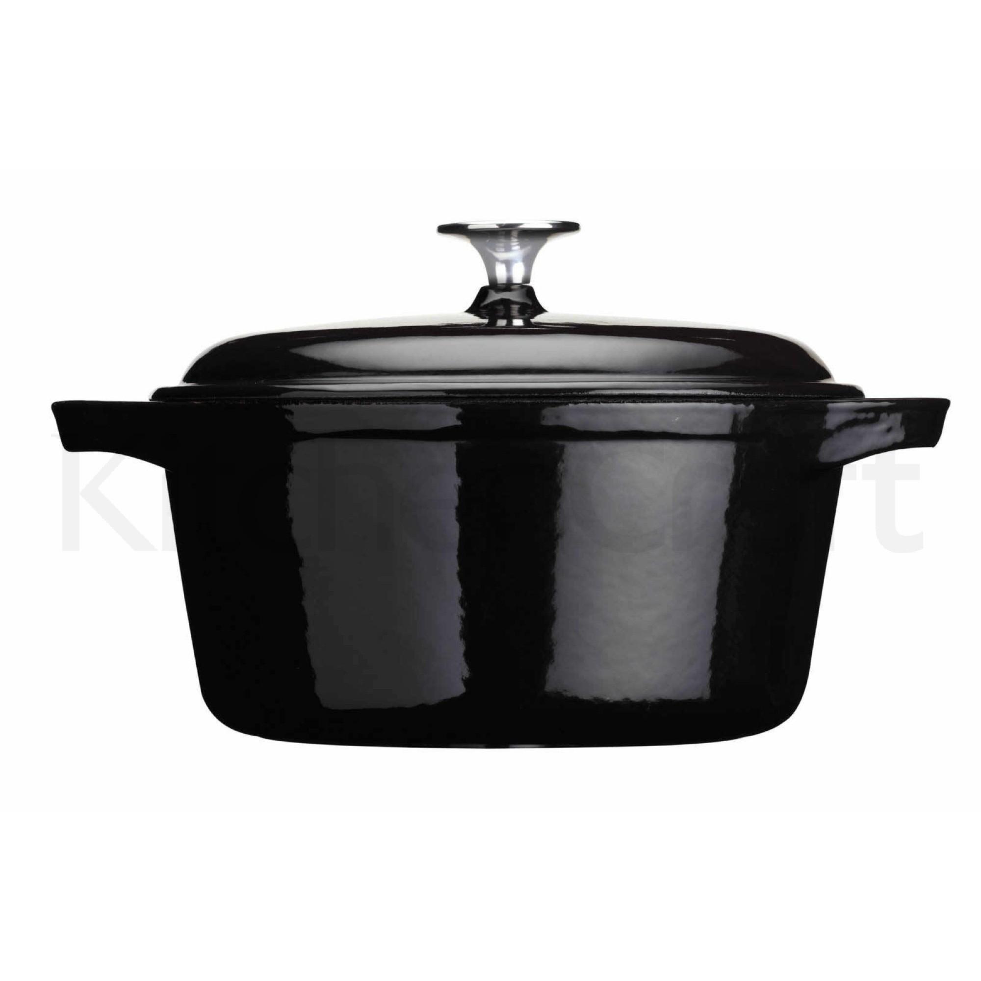 """Χύτρα Από Μαντέμι """"Cast Iron"""" 28cm Μαύρη Masterclass home   σκευη μαγειρικης   κατσαρόλες χύτρες"""