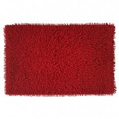 Πατάκι Μπάνιου Βαμβακερό Chenille Loop 50x80cm Κόκκινο