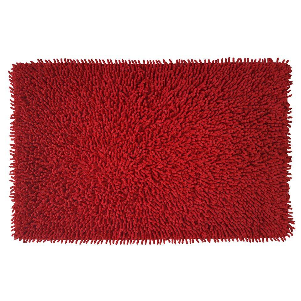 Πατάκι Μπάνιου Βαμβακερό Chenille Loop 50x80cm Κόκκινο home   ειδη μπανιου   χαλιά   πατάκια μπάνιου