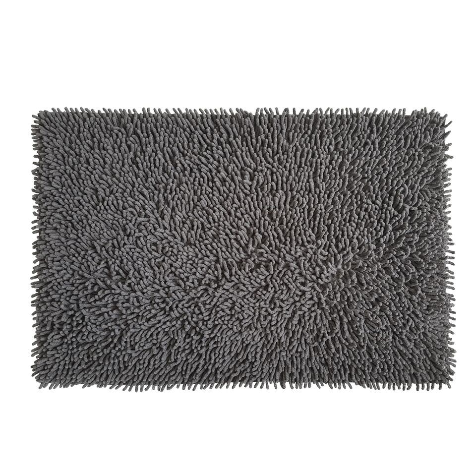 Πατάκι Μπάνιου Βαμβακερό Chenille Loop 50x80cm Ανθρακί home   ειδη μπανιου   χαλιά   πατάκια μπάνιου