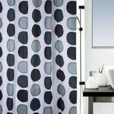 Κουρτίνα Μπάνιου Υφασμάτινη 180x200cm Nuba Grey