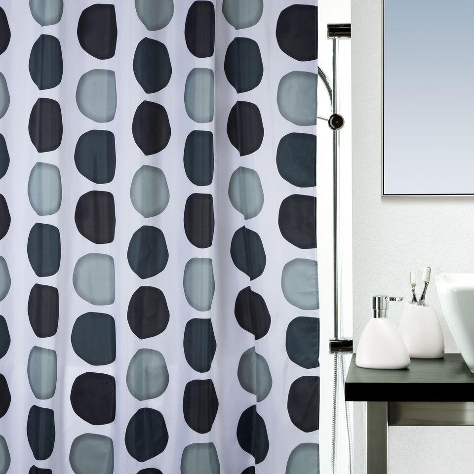 Κουρτίνα Μπάνιου Υφασμάτινη 180x200cm Nuba Grey home   ειδη μπανιου   κουρτίνες μπάνιου