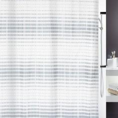 Κουρτίνα Μπάνιου Υφασμάτινη 180x200cm Flash Silver