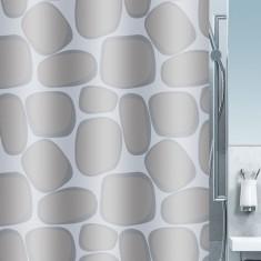Κουρτίνα Μπάνιου Υφασμάτινη 180x200cm Silver