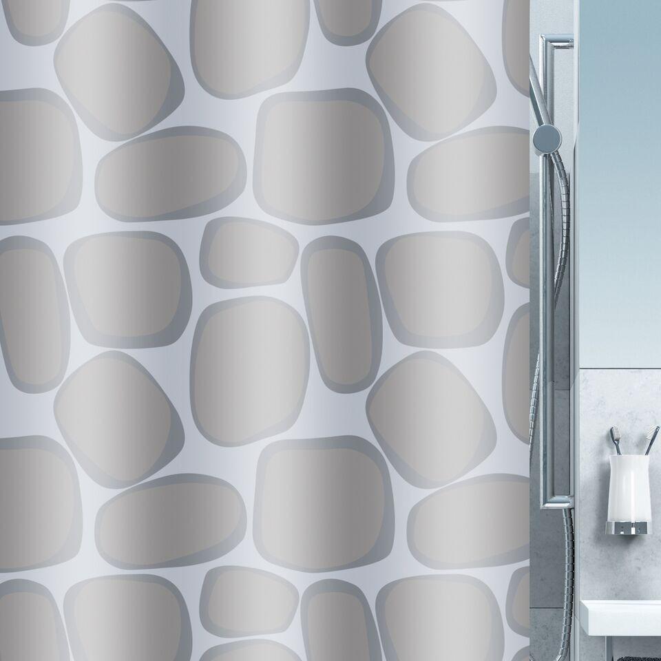 Κουρτίνα Μπάνιου Υφασμάτινη 180x200cm Silver home   ειδη μπανιου   κουρτίνες μπάνιου