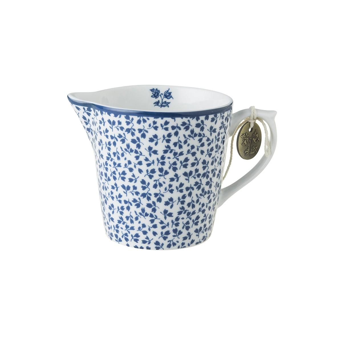 Γαλατιέρα Laura Ashley Floris Blue print New Bone China home   ειδη cafe τσαϊ   γαλατιέρες   ζαχαριέρες