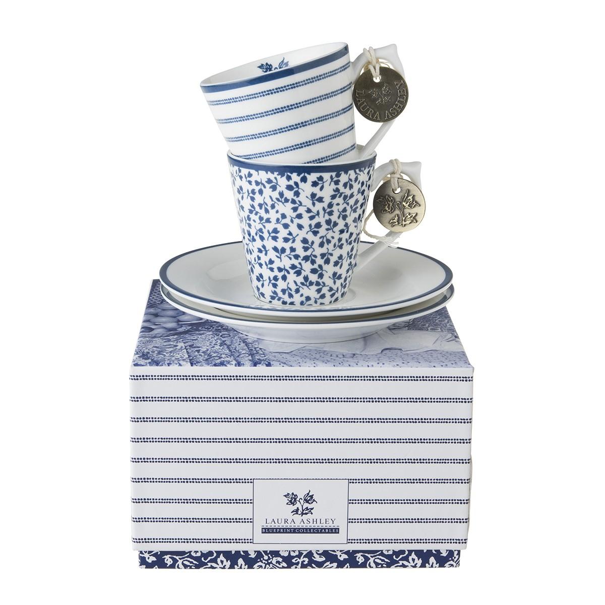Φλίτζάνι Espresso Laura Ashley Σετ 2τμχ. Fine Bone China home   ειδη cafe τσαϊ   κούπες   φλυτζάνια