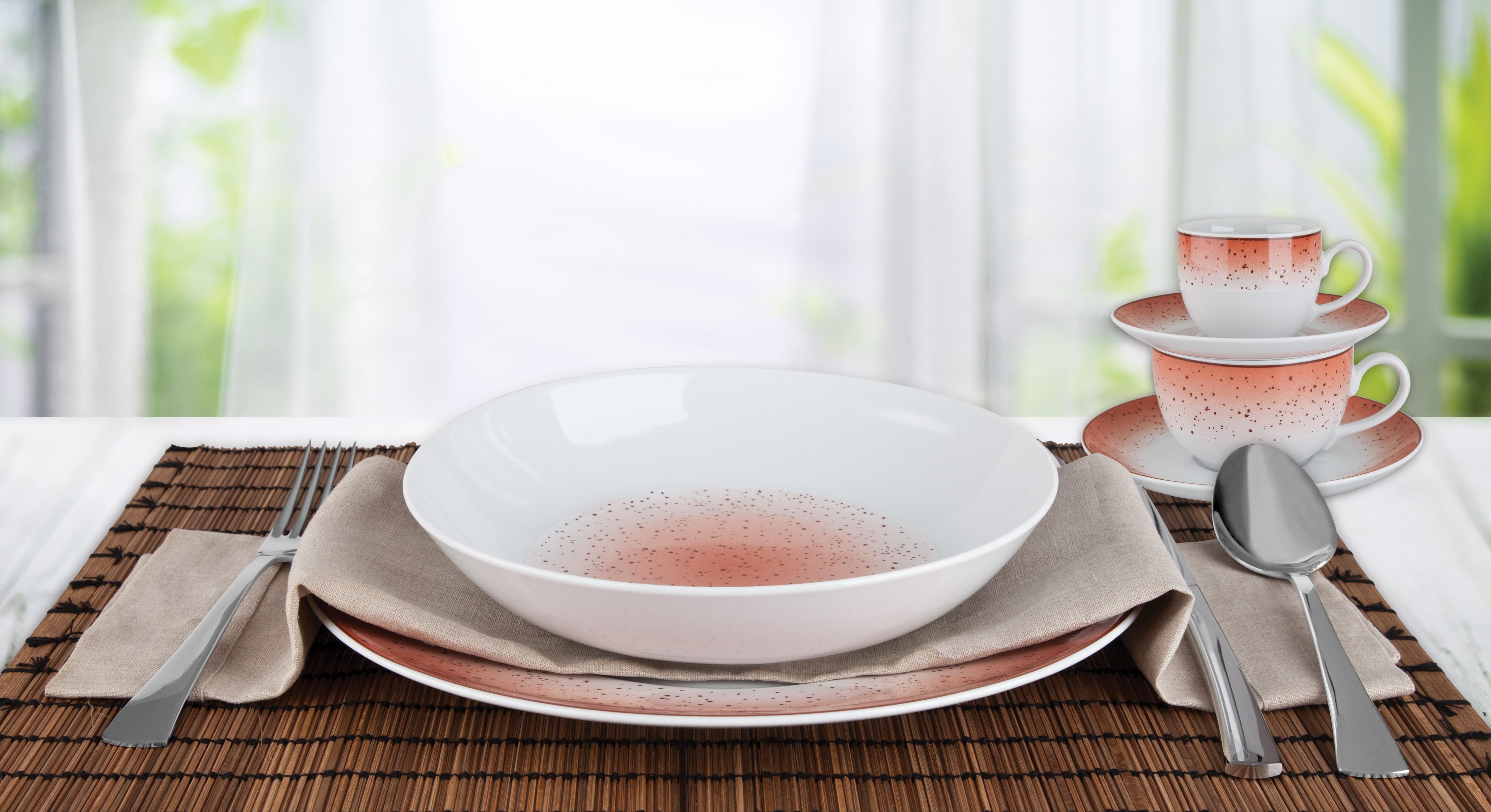 Σερβίτσιο Φαγητού Metamorphosis Red 20τμχ. Ionia home   ειδη σερβιρισματος   πιάτα   σερβίτσια