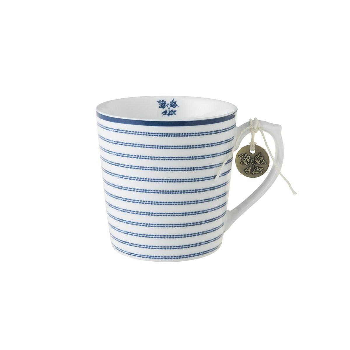 Κούπα Laura Ashley Candy Stripe Fine Bone China 320ml home   ειδη cafe τσαϊ   κούπες   φλυτζάνια