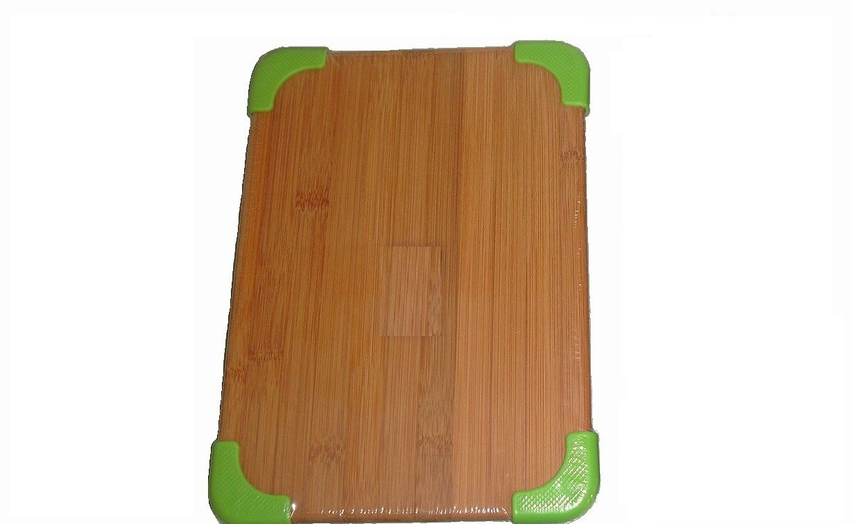 Επιφάνεια Κοπής Bamboo 20Χ28 Με Σιλικόνη Πράσινη home   αξεσουαρ κουζινας   επιφάνειες κοπής