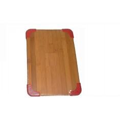 Επιφάνεια Κοπής Bamboo 20Χ28 Με Σιλικόνη Κόκκινη