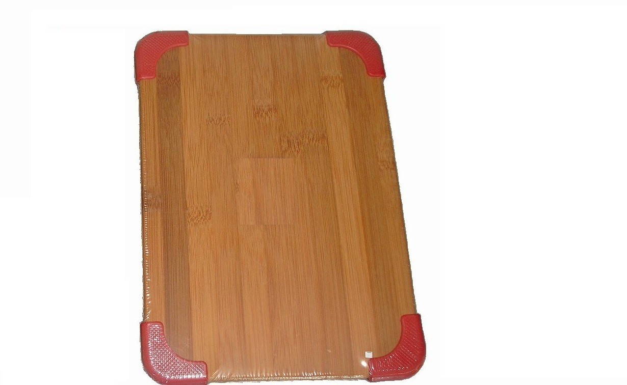 Επιφάνεια Κοπής Bamboo 35Χ25 Με Σιλικόνη Κόκκινη home   αξεσουαρ κουζινας   επιφάνειες κοπής