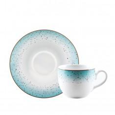 Φλυτζάνι & Πιάτο Τσαγιού Metamorphosis Blue Σετ 6τμχ Ionia