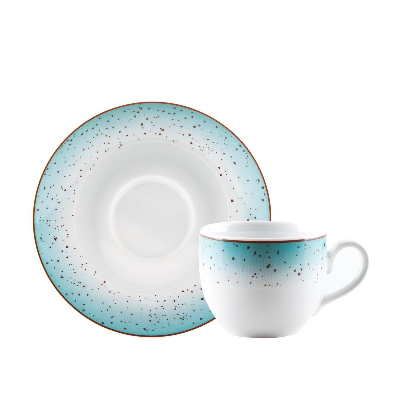 Φλιτζάνι & Πιάτο Τσαγιού Metamorphosis Blue Σετ 6τμχ Ionia home   ειδη cafe τσαϊ   κούπες   φλυτζάνια