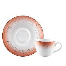 Φλιτζάνι & Πιάτο Καφέ Metamorphosis Red Σετ 6τμχ Ioni home   ειδη cafe τσαϊ   κούπες   φλυτζάνια