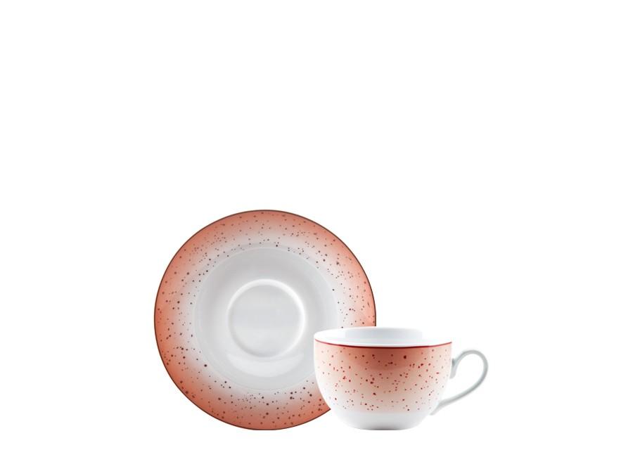 Φλιτζάνι & Πιάτο Τσαγιού Metamorphosis Red Σετ 6τμχ Ionia home   ειδη cafe τσαϊ   κούπες   φλυτζάνια