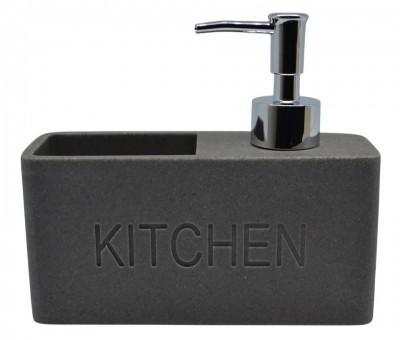 Dispencer Θήκη Για Υγρό Απορυπαντικό Πιάτων Γκρι home   αξεσουαρ κουζινας   πιατοθήκες   στεγνωτήρες