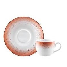 Φλιτζάνι & Πιάτο Τσαγιού Metamorphosis Red Σετ 6τμχ Ionia