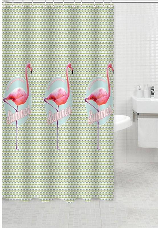 Κουρτίνα Μπάνιου Υφασμάτινη 180x180cm Flamingo home   ειδη μπανιου   κουρτίνες μπάνιου