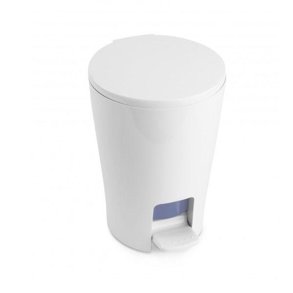 Πεντάλ 5lit Diabolo Πλαστικό Στρογγυλό Λευκό Tatay home   ειδη μπανιου