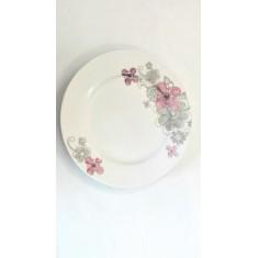 Πιάτο Φρούτου Πορσελάνης Λουλούδι 19cm