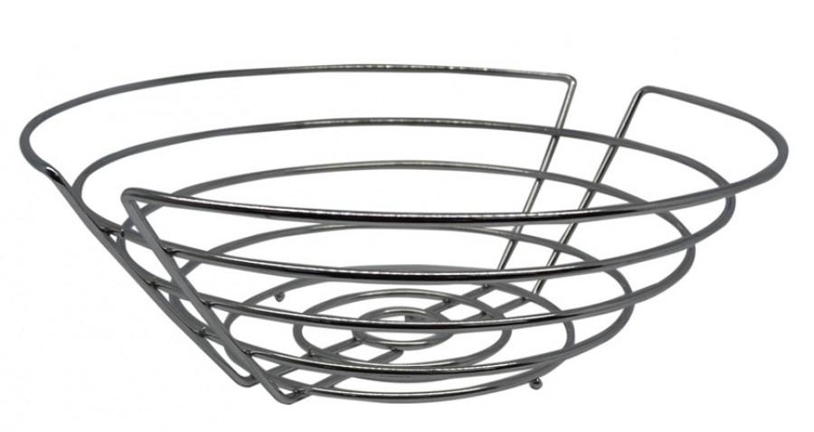 Φρουτιέρα - Ψωμιέρα Μεταλλική Στρογγυλή 29cm home   αξεσουαρ κουζινας   ψωμιέρες   φρουτιέρες