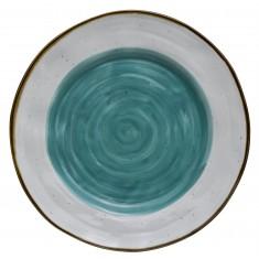 Πιατέλα Στρογγυλή 30cm New Bone China Country Blue