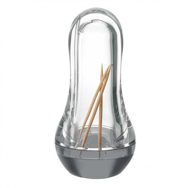 Θήκη Για Οδοντογλυφίδες Ακρυλική Γκρι Guzzini home   εργαλεια κουζινας   έξυπνα εργαλεία