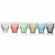 Ποτήρια Νερού - Αναψυκτικού Tiffany Σετ 6τμχ 350ml Χρωματιστά Guzzini