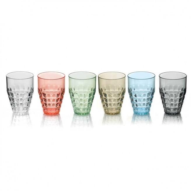 Ποτήρια Νερού - Αναψυκτικού Tiffany Σετ 6τμχ 510ml Χρωματιστά Guzzini home   ειδη σερβιρισματος   ποτήρια   νερού   αναψυκτικού