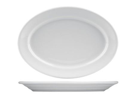 Πιατέλα Οβάλ Πορσελάνης Λευκή 36cm home   ειδη σερβιρισματος   πιατέλες