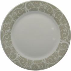 Πιάτο Ρηχό Πορσελάνης Λαχούρι Γκρι 24cm