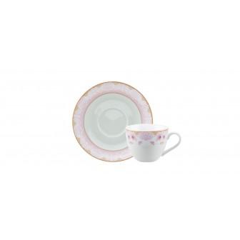 Φλιτζάνι & Πιάτο Καφέ Dalia Σετ 6 Τμχ.