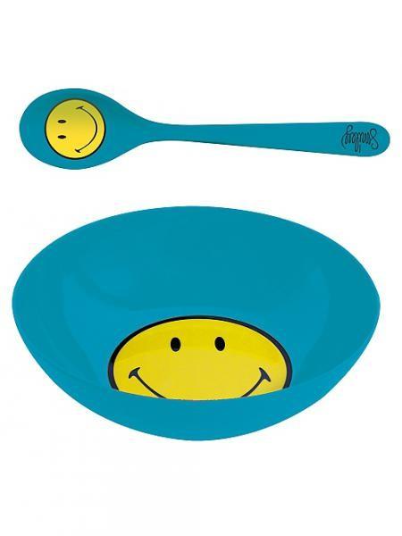 Σετ Πρωινού Smiley Μελαμίνης Zak Designs Μπλε home   ειδη σερβιρισματος   είδη bebe