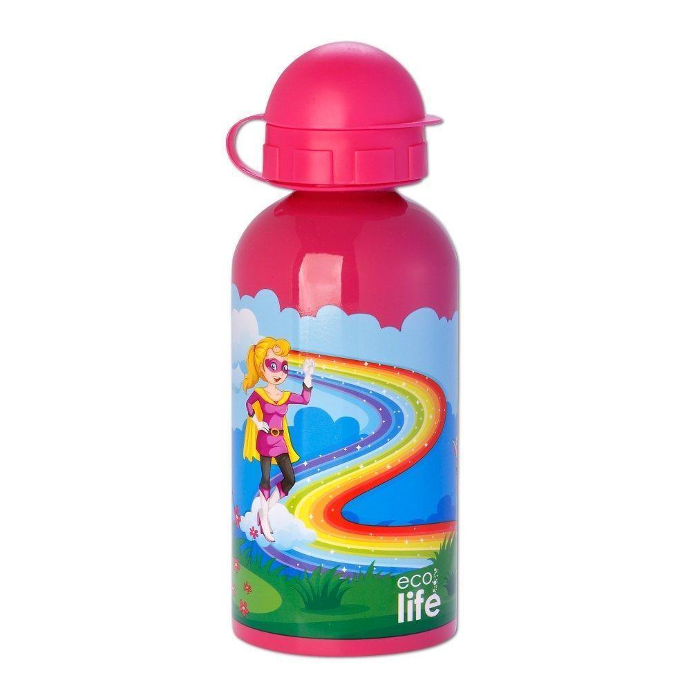 Παγούρι Eco Life Μεταλλικό Ανοξείδωτο Super Girl 500ml home   αξεσουαρ κουζινας   παγούρια   θερμός