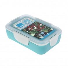 Φαγητοδοχείο Πλαστικό BPA FREE Smash Τυρκουάζ 950ml Ecolife