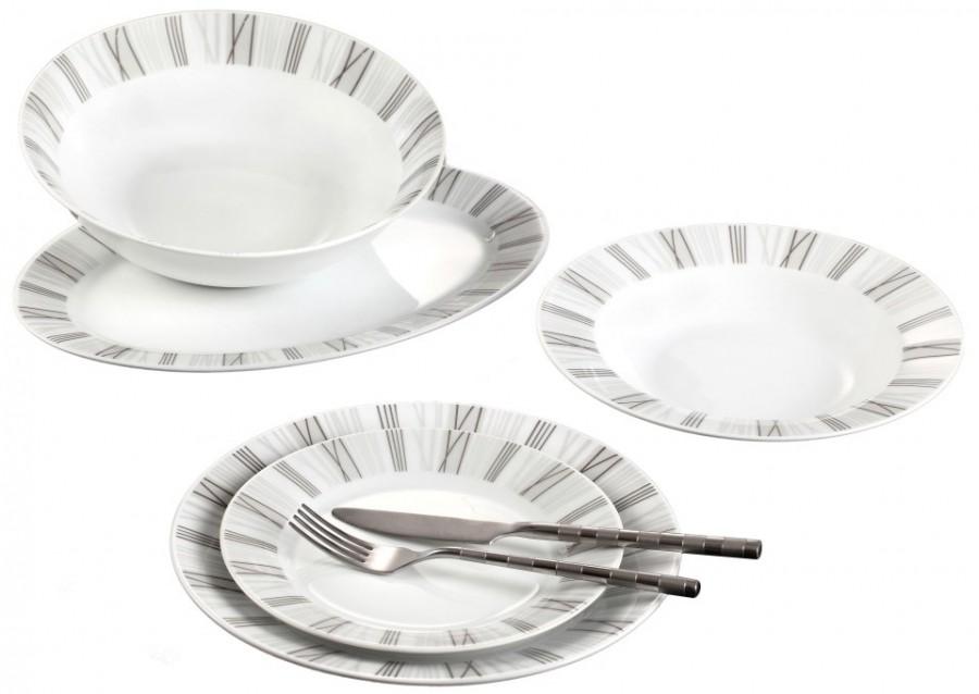 Σερβίτσιο Φαγητού 20 Τεμαχίων Στρογγυλό Μαύρες Ρίγες home   ειδη σερβιρισματος   πιάτα   σερβίτσια