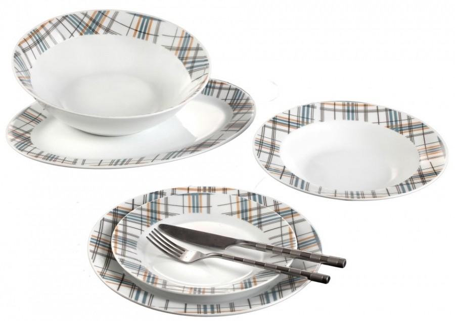 Σερβίτσιο Φαγητού 20 Τεμαχίων Στρογγυλό Γκρι Καρώ home   ειδη σερβιρισματος   πιάτα   σερβίτσια