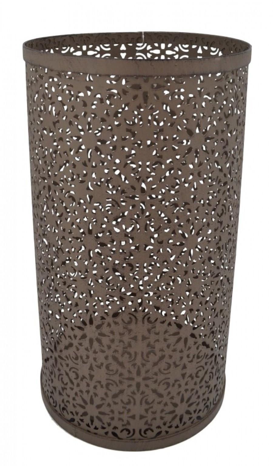 Ομπρελοθήκη Στρογγυλή Μεταλλική Γκρι - Καφέ home   κρυσταλλα  διακοσμηση
