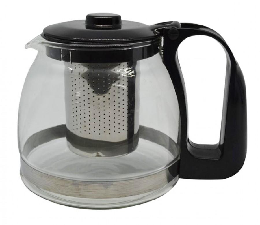Τσαγιέρα Γυάλινη Με Ανοξείδωτο Φίλτρο 1100ml home   ειδη cafe τσαϊ   τσαγιέρες
