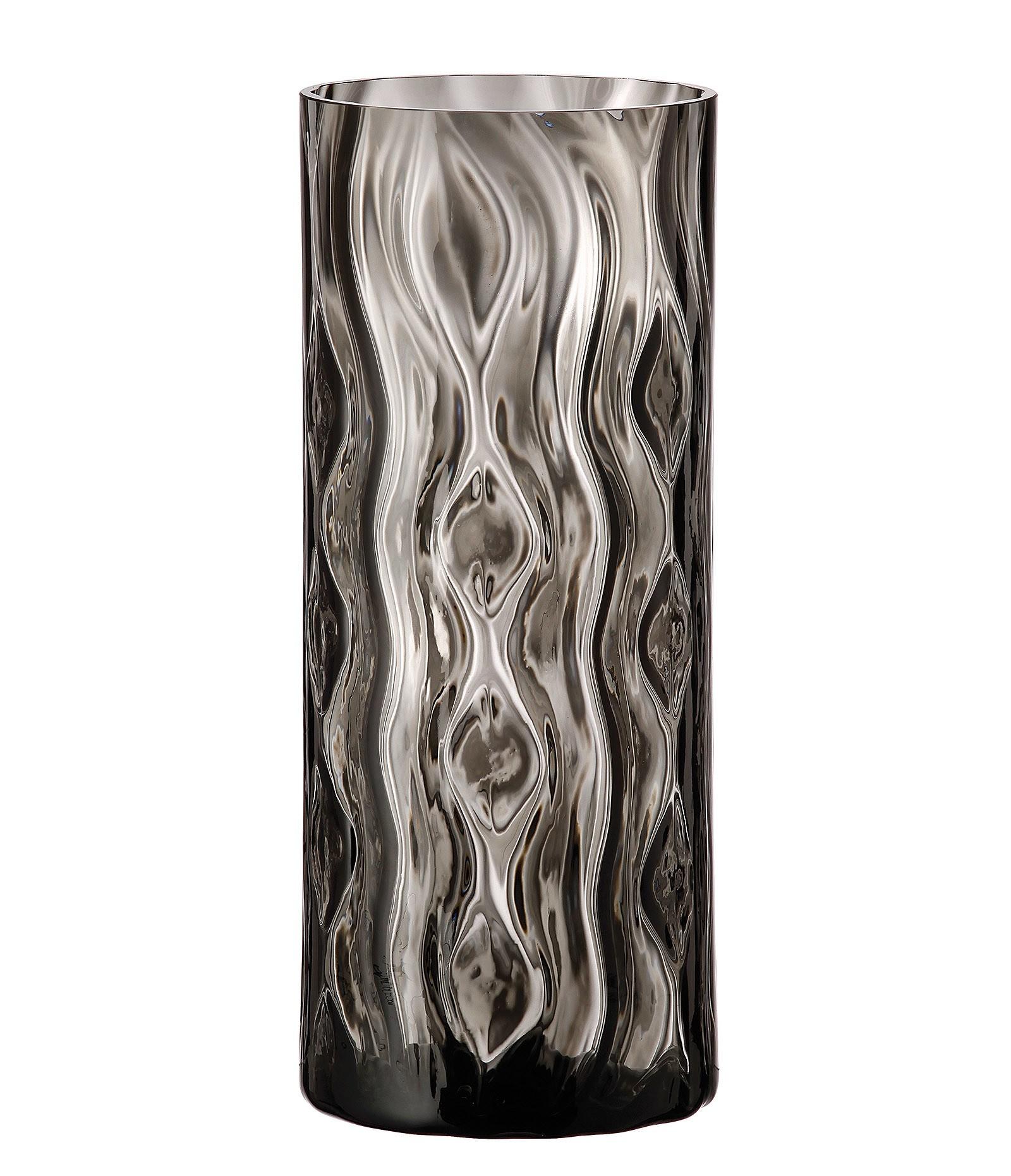 Ανθοδοχείο Optic Rhythm Black Bohemia Κρυστάλλινο 29cm home   κρυσταλλα  διακοσμηση   κρύσταλλα