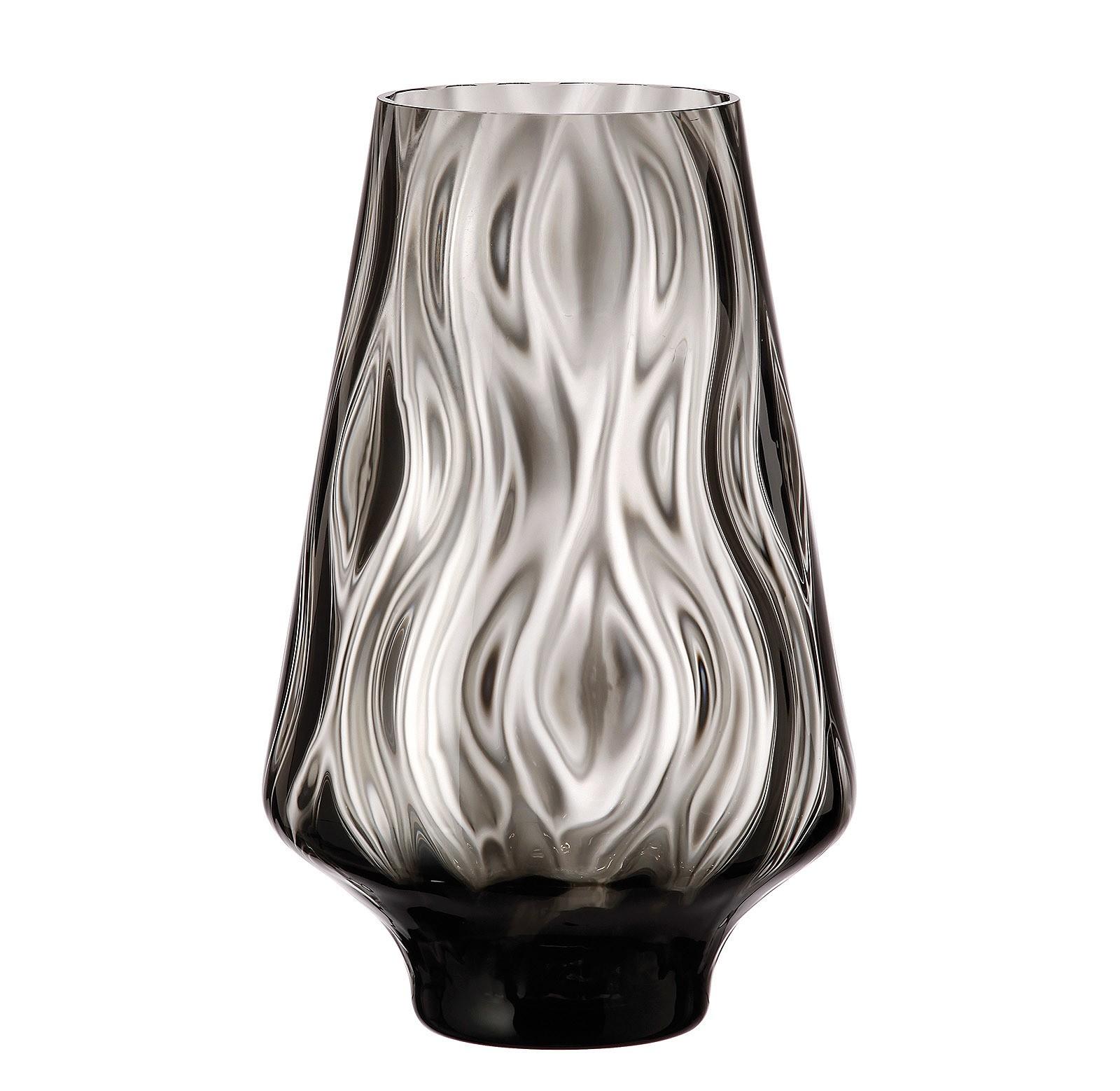 Ανθοδοχείο Optic Rhythm Black Bohemia Κρυστάλλινο 25cm home   κρυσταλλα  διακοσμηση   κρύσταλλα