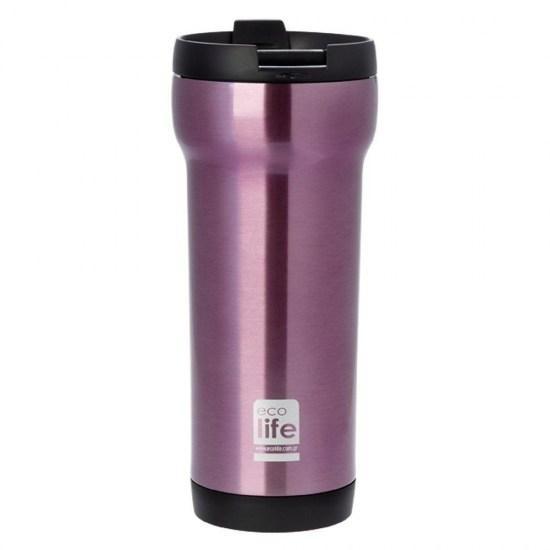 Θερμός Ποτήρι Eco Life Ανοξείδωτο Mug Pink 420ml home   αξεσουαρ κουζινας   παγούρια   θερμός