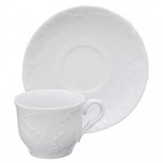 Φλυτζάνι & Πιάτο Καφέ Rococo Σετ 6τμχ Housmann