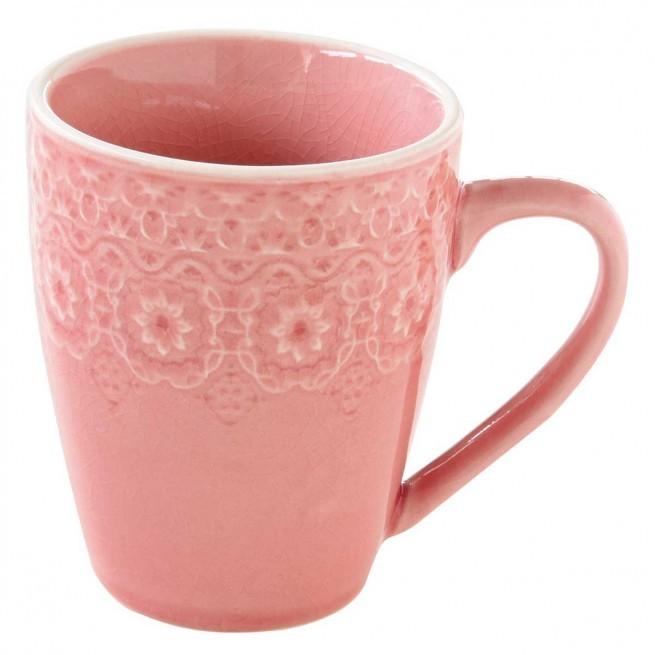 Κούπα Stoneware Ambiente Pink 360ml R2S home   ειδη cafe τσαϊ   κούπες   φλυτζάνια