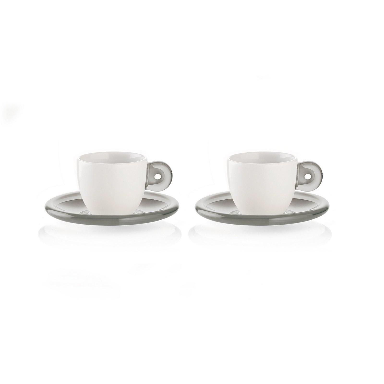 Φλυτζάνι & Πιάτο Καφέ Gocce Grey Σετ 2τμχ. Guzzini home   ειδη σερβιρισματος   κούπες   φλυτζάνια