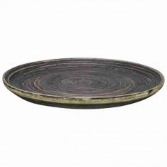 Πιατέλα Στρογγυλή Bamboo Naturla Black 33cm