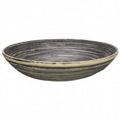 Πιατέλα Bamboo Natural Black 30cm